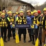 Gezgin Gurmeyiz Ekibi Rafting'de